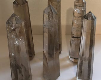 Smoky Quartz Point, Crystal Tower,Faced, Healing Stone, Healing Crystal, Chakra  Stone, Spiritual Stone