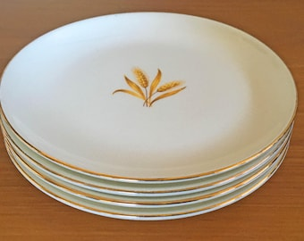 Taylor Smith Wheat Bread Plates - Set of 4