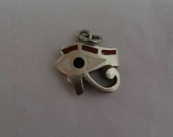 Coral inlay Eye of Horus made in Egypt
