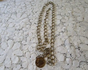 Vintage Chain and Coin Adjustable Belt