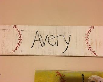Rustic Baseball Sign