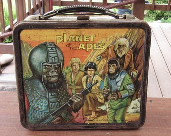 Vintage Planet of the Apes Metal Lunch Box, 1970's