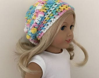 "18"" doll slouchy hat - suitable for 18"" dolls such as American Girl, Gotz Precious Day"