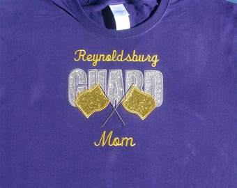 Color Guard Mom Long Sleeve Tee Shirt Gift, Color Guard Shirt, Colorguard Mom Shirt Gift, Color Guard Coach Shirt, Drill Team Shirt Gift