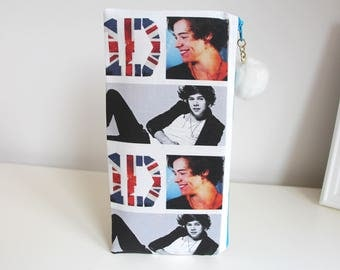 Harry Styles One Direction Pencil Case Cosmetic Case Jewelry Pouch