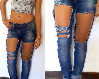 stylish ripped jeans, John customized, destroy original denim jeans with holes, original ripped jeans, jean hole trendy jean destroy swag,