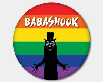 Babashook LGBT Magnet or Button. Gay Marriage. Gay Pride. Lesbian Gay Bisexual Transgender. Gay. All For Love & Love For All. Out and Proud.