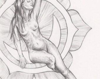 Surrender, Original pencil drawing