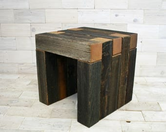 The Box Joint Bench Made From Barn Wood . . (tags Weathered Wood Table  Reclaimed