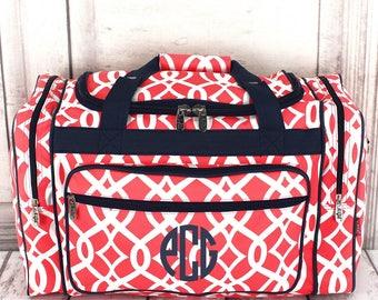 Monogrammed Bag, Girls Duffel Bag, Monogrammed Duffel, Monogram Duffel Bag, Duffel Bag, School Bag, Personalized, Duffel, Travel Bag