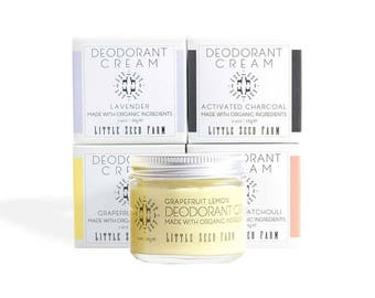 Organic Deodorant Cream - Aluminum & Baking Soda-Free - All Natural