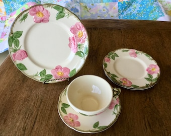Franciscan Desert Rose, salad plate, two bread and butter plates, 1 cup and one saucer