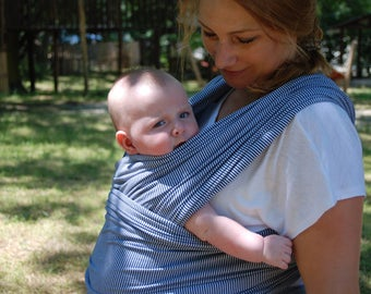 Baby Wrap Carrier/Baby Sling wrap/Baby Carrier Sling/Moby Sling/Blue sling/Affordalble Baby Wrap/Stretchy baby sling
