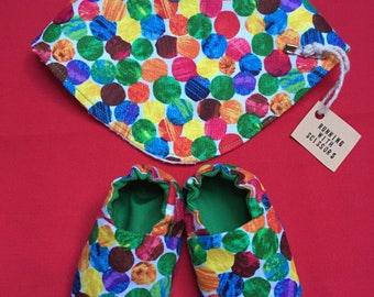 The Very Hungry Caterpillar Baby Bib and Boot Set