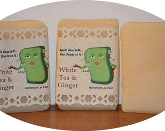 White Tea & Ginger ~ Homemade Lye Soap
