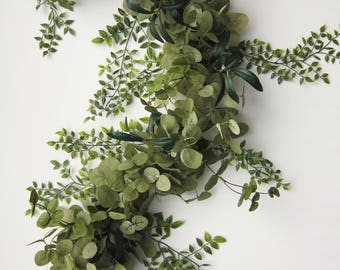 Eucalyptus Garland - Greenery Garland - Wedding Garland - Bridal Shower Backdrop - Farmhouse Decor - Bridal Shower Decor