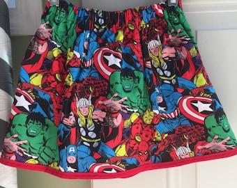 Marvel super hero skirt