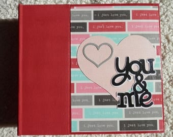 6x6 Couples Scrapbook Valentines Day