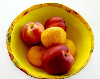 Decoupage Bowls, Paper Bowls, Handmade Bowls, Paper Mache Bowls, Yellow Bowls, Decorator Bowls, Designer Bowls, Paper Mache Art