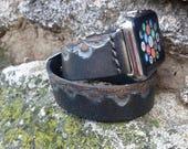 Apple Band Woman Black Apple Strap Wrist Watch Strap Wrap Double Tour Leather Brackelet Unique Design Apple