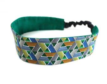 Bandeau cheveux femme africain wax vert