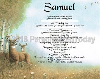 Deer Name Meaning Origin Print Name Personalized Certificate 8.5 x 11 Inches Customized With Any Name