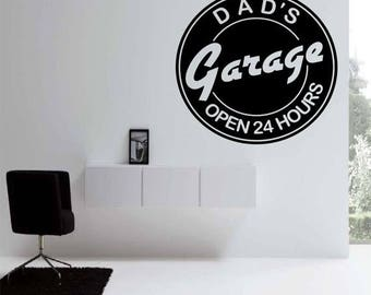 EVERYTHING IS 20% OFF Dads Garage Wall Decal
