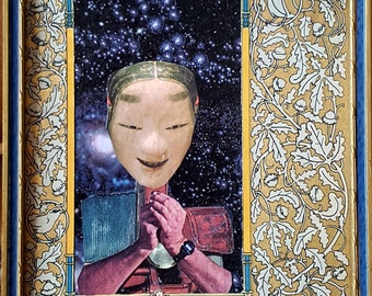 "uncertaintys' intrepid hero"" handmade cut & paste collage"
