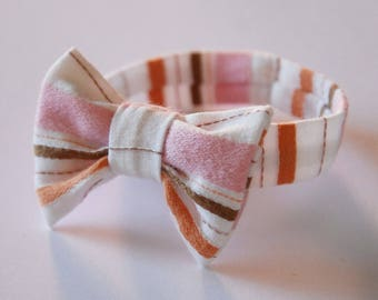Bracelet knot 55 striped pink/white/brown/orange, without clasp