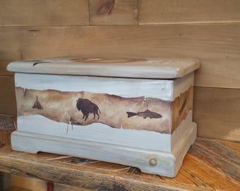 Treasures Box / Keepsake Chest / Memory Box / Silver Chest / Flatware Storage Chest / Wooden Box / Hope Chest / Wedding Card Box