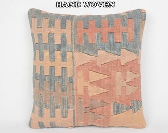 18x18 hittite decorative pillow country throw pillow outside kilim pillow traditional pillow cover colorful pillow case couch pillows C1838