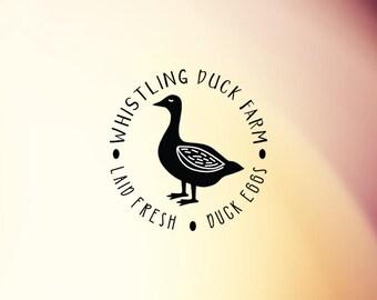 Duck Egg Stamp, Egg Carton Stamp, Duck Stamp, Egg Packaging Stamp, Homestead Stamp, Farm Stamp, Rubber Stamp, Self Inking Stamp  - CB748