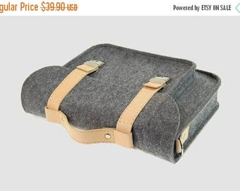 SALE Macbook 11 inch satchel, Laptop bag, sleeve, Macbook Air 11 inch, Casual bag, Shoulder bag with leather straps