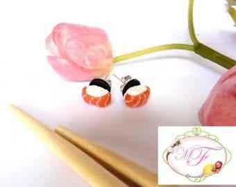 Sushi chip earrings