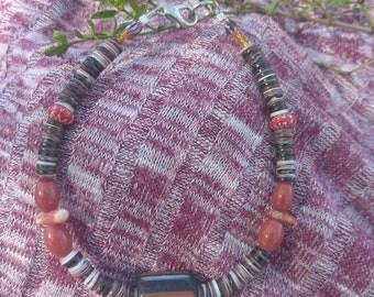 African Porcelain Trade bead bracelet