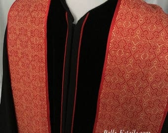 Gothic Cross Clergy Stole, Custom Clergy Stole, Handwoven Clergy Stole, Handmade Clergy Stole, Ministers Stole, Deacons Stole