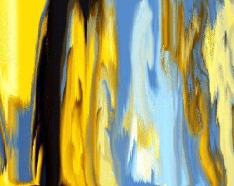 Abstract Art 'Splash Print'Size 8x10 Home Decor/Office Art2323