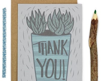Moving SALE Thank You Cards - Plants - Succulents - Nature - Cactus - Thanks - Note Cards - Greeting Cards - Handmade Stationery - Give