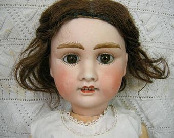 Antique French Bisque Doll: Verlingue Liane Petite Francaise 8, 20 inches tall