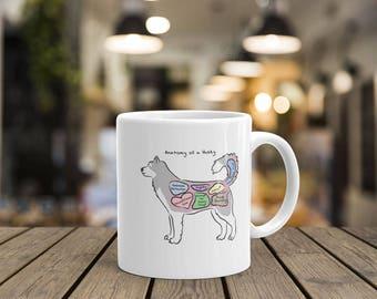 Anatomy of a Husky - Funny Siberian Husky Mug
