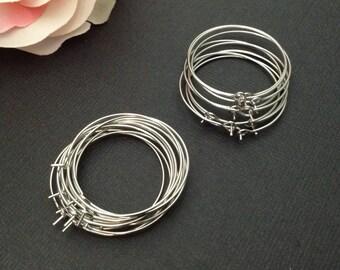 10 pair Ear Hoops 30 mm / Earring Hoops / Earring Hoops 30 mm