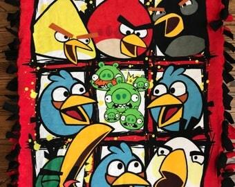 Angry Birds Fleece Tie Blanket