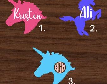 Unicorn with name Decal | Unicorn Yeti Decal | Unicorn RTIC Decal | Unicorn Car Decal | Customized Decal