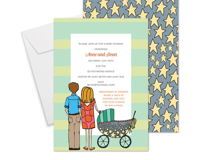 Couples Baby Shower Invitation