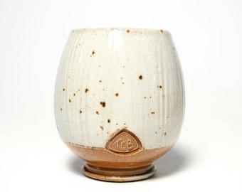 Soda Fired Shino, Yunomi, Stoneware Cup