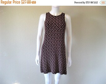 25% off SALE 90s burgundy floral print dress