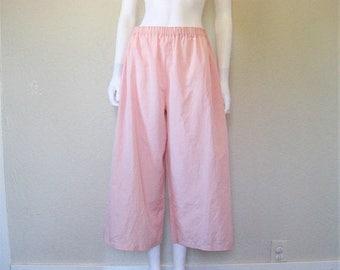25% off SALE Vintage Light Pink Wide Leg Pajama pants