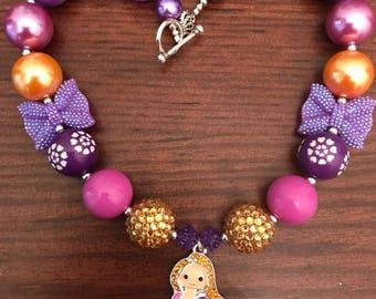 Princess Rapunzel inspired Bubble Gum Necklace (Adult/Child)