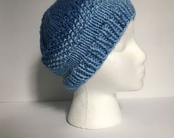 Messy Bun / Ponytail Knit Hat