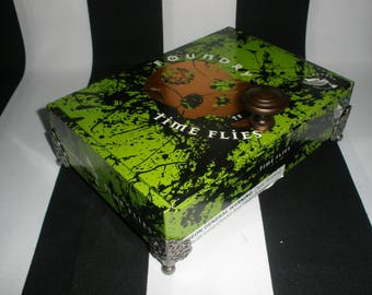 Gasparilla, Green, Skull Cigar Box Valet, Pirate Booty Box, Watch Box, Tampa, Authentic